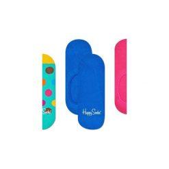 Skarpetki Happy Socks -  3-Pak Liner (BDO18-7000). Niebieskie skarpety męskie Happy Socks, w kolorowe wzory, z bawełny. Za 63.90 zł.