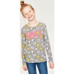 T-shirt z nadrukiem smiley world - Szary. T-shirty damskie marki bonprix. W wyprzedaży za 14.99 zł.