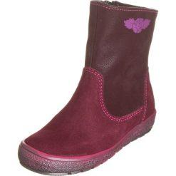 Skórzane botki w kolorze bordowym. Botki dziewczęce Zimowe obuwie dla dzieci. W wyprzedaży za 147.95 zł.