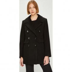 Answear - Płaszcz Watch me. Czarne płaszcze damskie ANSWEAR, z elastanu, klasyczne. W wyprzedaży za 259.90 zł.