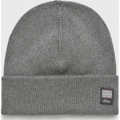 S. Oliver - Czapka. Szare czapki i kapelusze męskie S.Oliver. Za 89.90 zł.