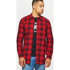 Koszula o dłuższym kroju - Czerwony. Czerwone koszule męskie Cropp. Za 99.99 zł.