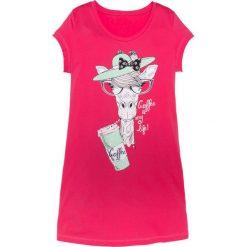 Koszula nocna bonprix różowy hibiskus z nadrukiem. Koszule nocne damskie marki MAKE ME BIO. Za 34.99 zł.