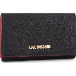 Duży Portfel Damski LOVE MOSCHINO - JC5553PP06LQ0000 Nero. Czarne portfele damskie Love Moschino, ze skóry ekologicznej. Za 369.00 zł.
