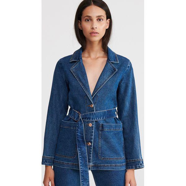 Niebieskie kurtki i płaszcze damskie Reserved, bez kaptura