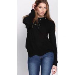 Czarny Sweter Will It Burst. Czarne swetry damskie Born2be. Za 34.99 zł.