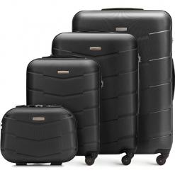 Zestaw walizek 56-3A-40K-10. Brązowe walizki damskie Wittchen, z gumy. Za 726.00 zł.