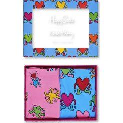 Happy Socks - Figi Keith Haring Cheeky (2-pak). Niebieskie figi damskie Happy Socks, z dzianiny. W wyprzedaży za 139.90 zł.