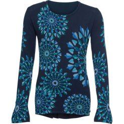 Sweter wzorzysty, długi rękaw bonprix ciemnoniebieski wzorzysty. Niebieskie swetry damskie bonprix. Za 129.99 zł.