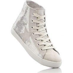 Wysokie sneakersy bonprix srebrny. Buty sportowe chłopięce marki bonprix. Za 79.99 zł.