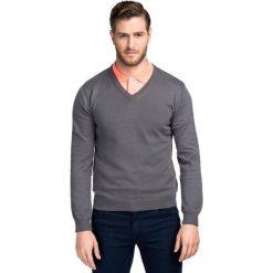 Sweter FABRIZIO SWPR000136. Brązowe swetry przez głowę męskie Giacomo Conti, z bawełny. Za 149.00 zł.