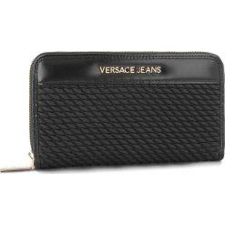Duży Portfel Damski VERSACE JEANS - E3VSBPU1  70791 899. Czarne portfele damskie Versace Jeans, z jeansu. Za 369.00 zł.