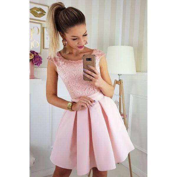 7d523b57 Koktajlowa sukienka z paskiem 2141