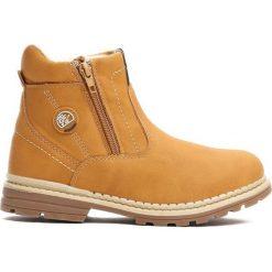 Camelowe Traperki Big-City. Brązowe buty zimowe chłopięce Born2be, z materiału. Za 79.99 zł.
