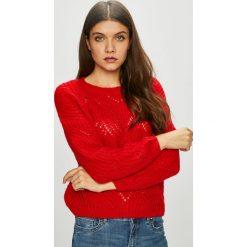 Only - Sweter Havana. Czerwone swetry damskie Only, z dzianiny, z okrągłym kołnierzem. W wyprzedaży za 99.90 zł.