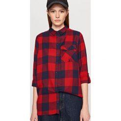 Koszula w kratę - Czerwony. Czerwone koszule damskie Reserved. Za 49.99 zł.