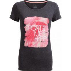 T-shirt damski  TSD615 - ciemny szary melanż - Outhorn. Szare t-shirty damskie Outhorn, melanż, z materiału. W wyprzedaży za 24.99 zł.