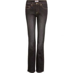 """Dżinsy """"Wyszczuplające sylwetkę"""" STRAIGHT bonprix czarny. Czarne jeansy damskie bonprix. Za 89.99 zł."""