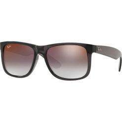 Ray-Ban - Okulary Justin. Brązowe okulary przeciwsłoneczne męskie Ray-Ban, z materiału. Za 499.90 zł.