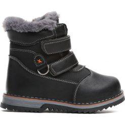 Czarne Traperki Nonrural. Czarne buty zimowe chłopięce Born2be, z materiału. Za 64.99 zł.