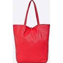 Answear - Torebka skórzana. Czerwone torby na ramię damskie ANSWEAR. W wyprzedaży za 169.90 zł.