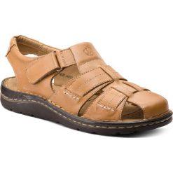 Sandały LASOCKI FOR MEN - MI07-A692-A551-04 Beżowy. Brązowe sandały męskie Lasocki For Men, z materiału. W wyprzedaży za 139.99 zł.