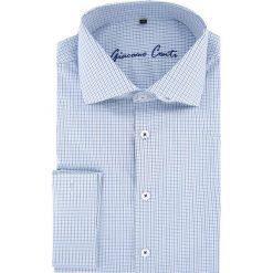 Koszula RICCARDO 15-11-24. Niebieskie koszule męskie Giacomo Conti, w kratkę, z bawełny, z włoskim kołnierzykiem, z długim rękawem. Za 169.00 zł.