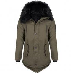 Płaszcz zimowy w kolorze khaki. Brązowe płaszcze męskie Giorgio di Mare, na zimę, z materiału. W wyprzedaży za 521.95 zł.
