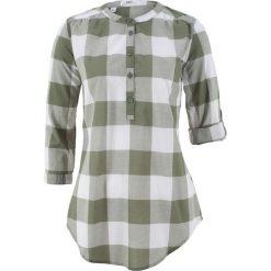 Tunika koszulowa w kratę bonprix oliwkowo-biały w kratę. Tuniki damskie marki bonprix. Za 54.99 zł.