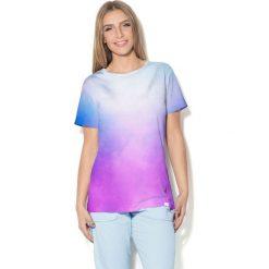 Colour Pleasure Koszulka CP-030  40 błękitno-fioletowa r. M/L. Bluzki damskie Colour Pleasure. Za 70.35 zł.