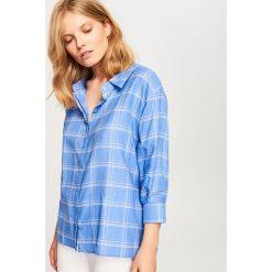 Koszula w kratę - Niebieski. Koszule damskie marki bonprix. W wyprzedaży za 39.99 zł.