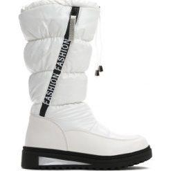 Białe Śniegowce Humbleness. Białe buty zimowe dziewczęce Born2be, z materiału. Za 109.99 zł.