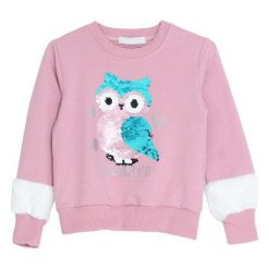 Różowa Bluza Happy. Bluzy dla dziewczynek marki bonprix. Za 59.99 zł.