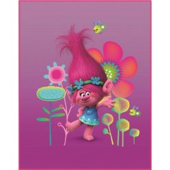 CTI Trolls Poppy Koc 110X140 Cm. Fioletowe kocyki dla dzieci CTI. Za 34.00 zł.