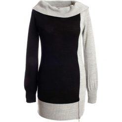Sweter bonprix czarno-szary. Swetry damskie marki bonprix. Za 79.99 zł.
