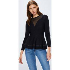 Guess Jeans - Sweter Becca. Szare swetry damskie Guess Jeans, z jeansu. Za 459.90 zł.