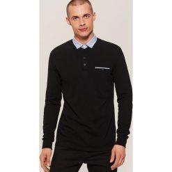 Koszulka polo z długim rękawem - Czarny. Czarne bluzki z długim rękawem męskie House, polo. Za 69.99 zł.