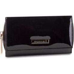 Duży Portfel Damski MONNARI - PUR0701-020 Black Lacquer. Czarne portfele damskie Monnari, z lakierowanej skóry. W wyprzedaży za 159.00 zł.