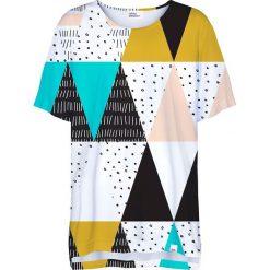 Colour Pleasure Koszulka CP-033  22 czarno-biało-miętowa  r. uniwersalny. Bluzki damskie Colour Pleasure. Za 76.57 zł.