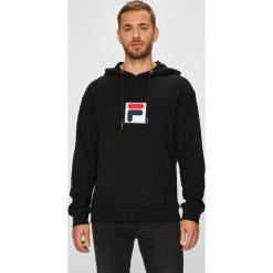 Fila - Bluza. Czarne bluzy męskie Fila, z nadrukiem, z bawełny. W wyprzedaży za 299.90 zł.