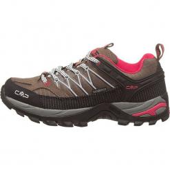 """Skórzane buty turystyczne """"Rigel"""" w kolorze czarno-jasnobrązowym. Trekkingi damskie marki ROCKRIDER. W wyprzedaży za 218.95 zł."""