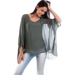 Koszulka w kolorze khaki. T-shirty damskie 100% Soie, klasyczne, z okrągłym kołnierzem, z długim rękawem. W wyprzedaży za 130.95 zł.