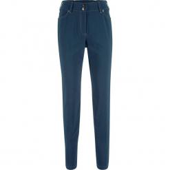 Spodnie push-up z wstawką przeszytą cienkimi gumkami STRAIGHT bonprix ciemnoniebieski. Niebieskie spodnie materiałowe damskie bonprix. Za 89.99 zł.