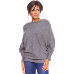 """Sweter """"Edwidge"""" w kolorze szarym. Szare swetry damskie So Cachemire, z kaszmiru, z dekoltem w łódkę. W wyprzedaży za 173.95 zł."""