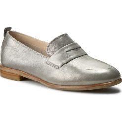 Półbuty CLARKS - Alania Belle 261258574 Silver Metallic. Szare półbuty damskie Clarks, ze skóry. W wyprzedaży za 249.00 zł.