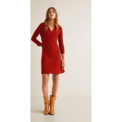 Mango - Sukienka Redford. Szare sukienki damskie Mango, z bawełny, casualowe, z długim rękawem. Za 139.90 zł.
