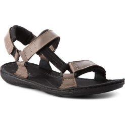 Sandały ŁUKBUT - 990 Brązowy. Brązowe sandały męskie Łukbut, z materiału. W wyprzedaży za 149.00 zł.