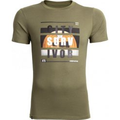 T-shirt męski  TSM611 - khaki - Outhorn. Brązowe t-shirty męskie Outhorn, z bawełny. Za 39.99 zł.