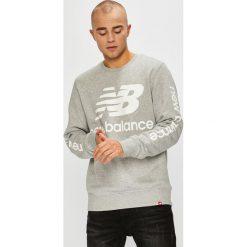 New Balance - Bluza. Szare bluzy męskie New Balance, z nadrukiem, z bawełny. Za 269.90 zł.