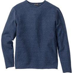 Sweter Regular Fit bonprix ciemnoniebieski melanż. Swetry przez głowę męskie marki Giacomo Conti. Za 37.99 zł.